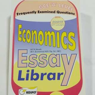 A Level Economics Essay Library
