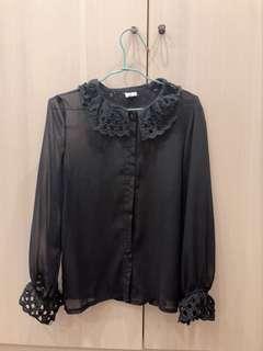 透膚黑襯衫