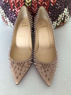 Christian Louboutin spikes Heels shoes 37.5