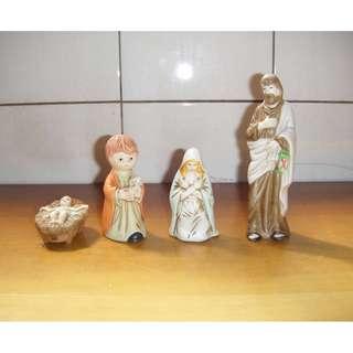 早期外國人偶 陶瓷 (4個一起賣)