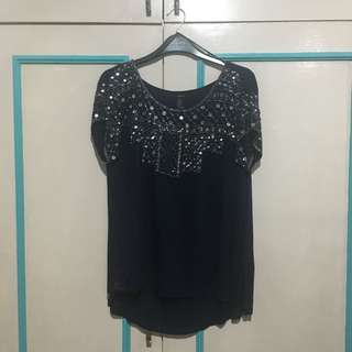 Dark Blue F21 top