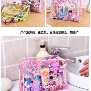 Flower Printed Transparent Bag