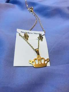 Crown Necklace set