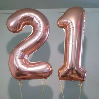40inch Number Foil Helium Balloons