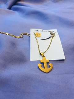 Anchor Necklace set