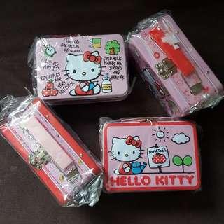 Hello Kitty Tin Box With Snap Lock
