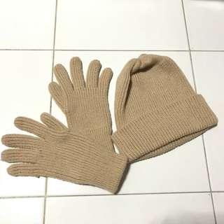 New Topi dan Sarung Tangan Knit