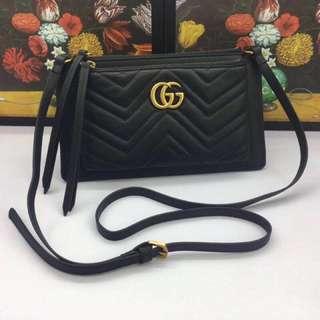Gucci 包包(單肩斜挎,可拆卸按扣手拿包 GG Marmont shoulder bag 「Yuanroro優質賣場