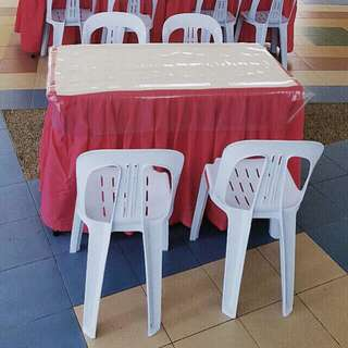 Rental of Rectangular tables & chairs (halal)