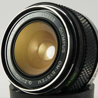 **日光銀鹽** [Nikon接環] Olympus Auto-W H.ZUIKO OM 28mm F3.5 廣角鏡