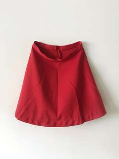 UNIQLO Red Skater Skirt