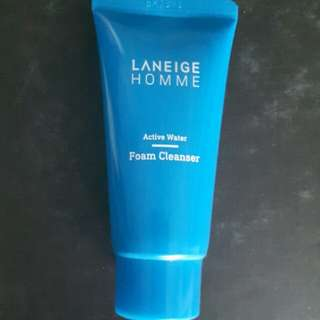 New 30ml Laneige Homme Active Water Foam Cleanser