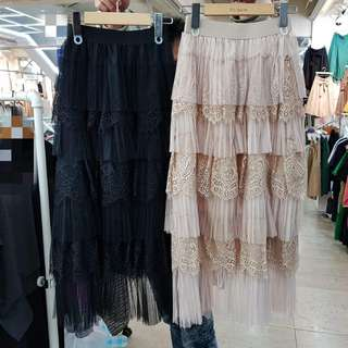 3/30收單♥正韓製~蒏絲網紗蛋糕裙~