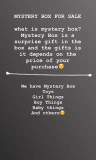 MYSTERY BOX FOR SALE!!