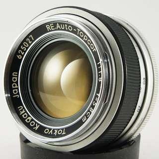 **日光銀鹽** [Nikon接環]Tokyo Kogaku RE.Auto-Topcor 58mm F1.8 小鳳凰瞳