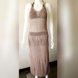 Classy boho swimsuit cover up dress