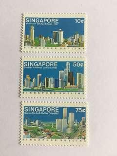 Singapore 1987 Skyline mnh