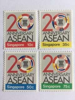 Singapore 1987 Asean anniversary mnh