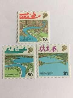 Singapore 1987 river life mnh