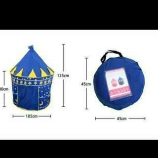 Blue castle tent