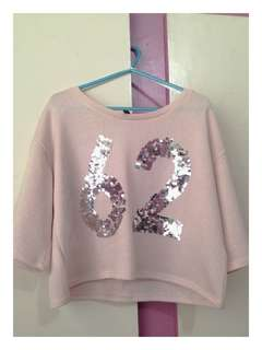 Baby Pink H&M Oversized Sweater