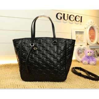 Gucci 包包(黑色壓花 熱賣款)頂級款