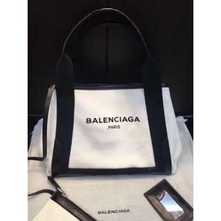 巴黎世家包包(BALENCIAGA 帆布包,可手提可肩背有兩種尺寸;Yuanroro優質賣場媽媽包navy