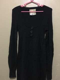 Billabong Sleeved Black Dress