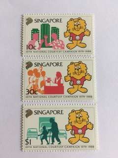 Singapore 1988 courtesy campaign mnh