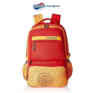 SALE! American Tourister by Samsonite Large Unisex Backpack - Yellow/ Orange : SUPER SALE! (Converted SRP of 3,109Php + )