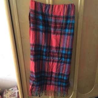 寬版長圍巾