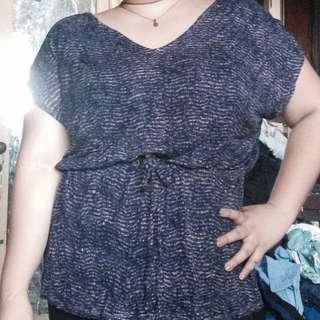 Plus size violet summer top