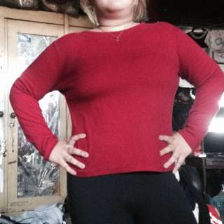 Plus size pink long sleeves