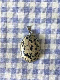 Preloved Dalmatian Jasper stone pendant