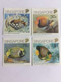 Singapore 1989 fishes mnh