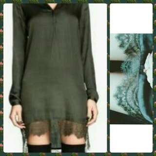 Authentic H&M Long Sleeved Silk Dress