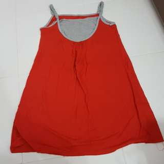 Maternity and Nursing Red Dress