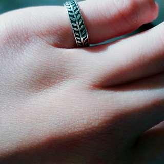 橄欖葉開口戒指