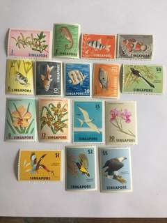 Singapore 1962 Fishes and birds definitives mnh