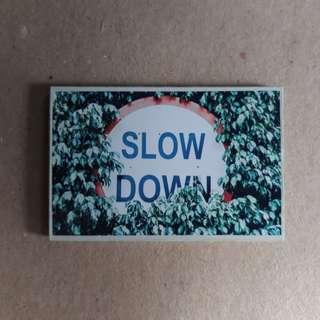 Slow Down Ref Magnet