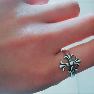 十字架開口復古戒指