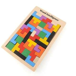 Children Wooden Puzzles Toy Tangram Brain Teaser Puzzle - HOT!!!