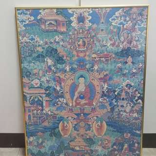 Buddha zigsaw puzzle(framed up)