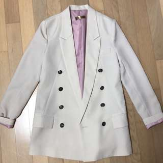 二手 正韓米白色 長西裝外套