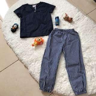 Baju Melayu Kurta (3y-4t navy blue)