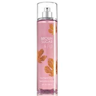 Bath and Body Works - BROWN SUGAR FIG Fine Fragrance Mist - 236 mL
