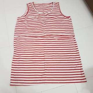 Maternity & Nursing Red Stripe blouse