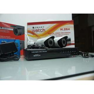 CCTV Camera IP Surveillance Package for Outdoor with 2Megapixel and 1080p Resolution Display