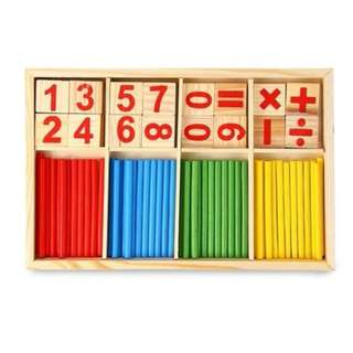 NEW ARRIVAL - Maikun Montessori Mathematical Intelligence Stick Preschool Educational Toys (Color: Multicolor)