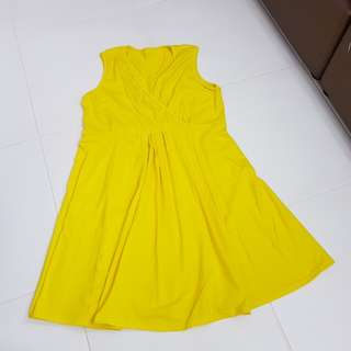 Maternity Yellow Dress